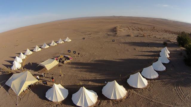 campamento beduino desierto carpas shigg tribu