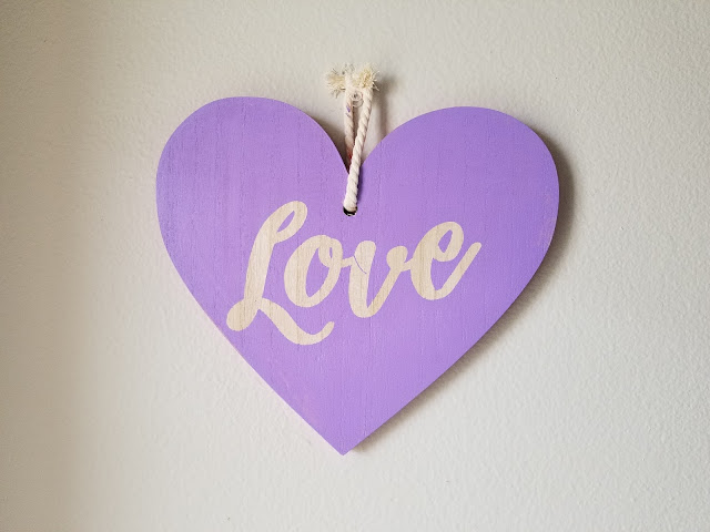 DIY Valentine heart craft with vinyl stencil