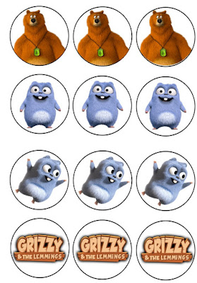 grizzly and the lemmings birthday printables