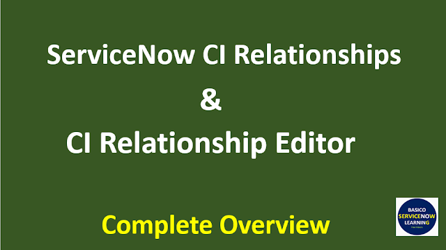 servicenow ci relationships,servicenow ci relationship types,servicenow ci relationship editor