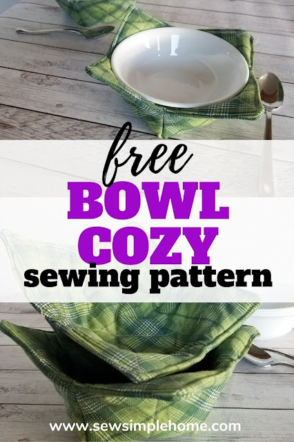 Sew your own microwave bowl cozy with this free soup bowl cozy pattern.