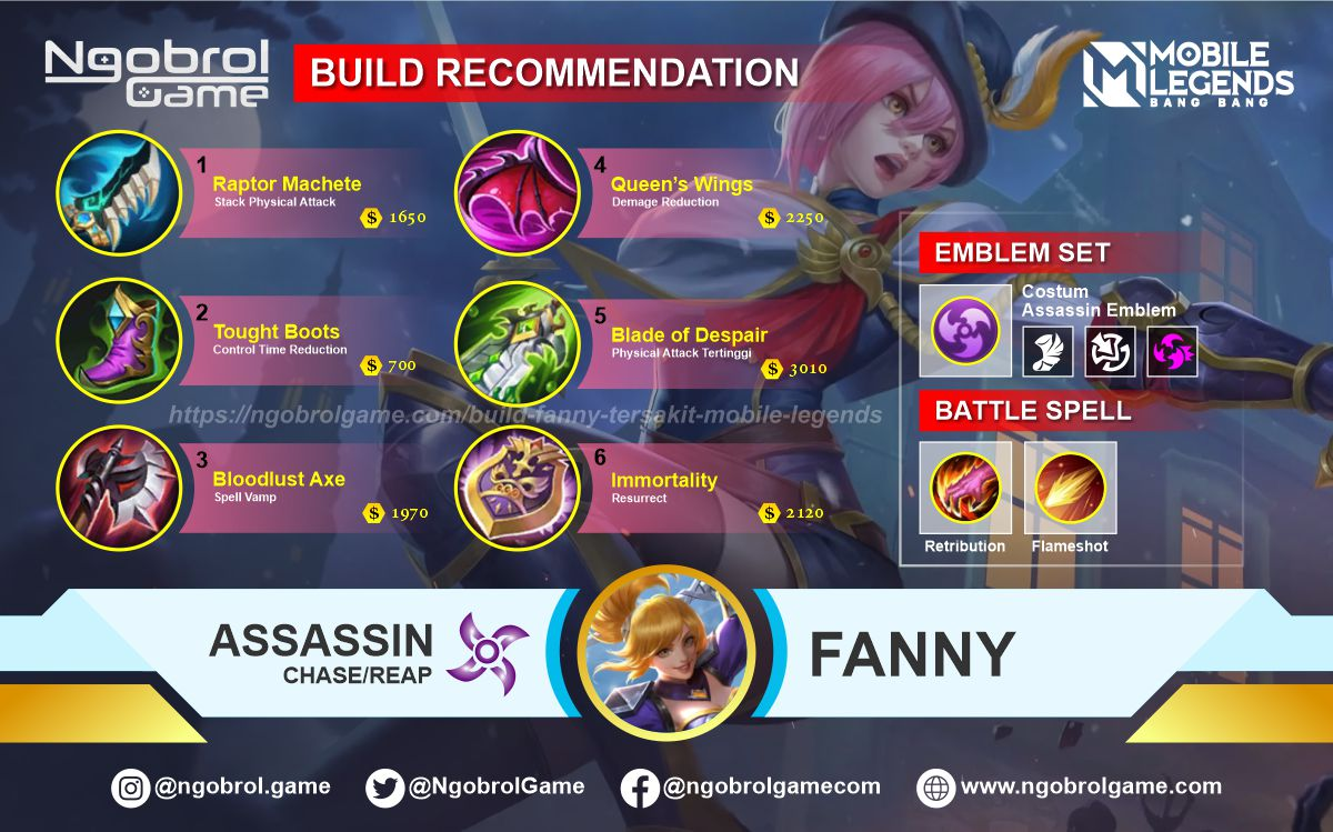 Build Fanny Top Global Tersakit Mobile Legends