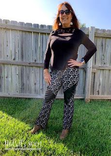 McCalls 8003 top and Vogue 1411 Pants  on Sharon on Sharon Sews blog