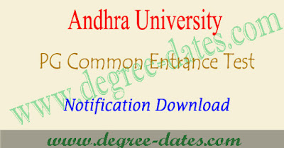 AUCET 2018 notification, online apply, hall ticket, results au pgcet