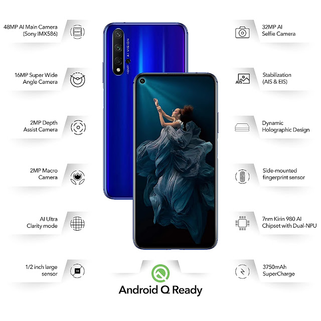 Honor 20 full review with specifications,features 2020 price in India - 360TechnoWorld