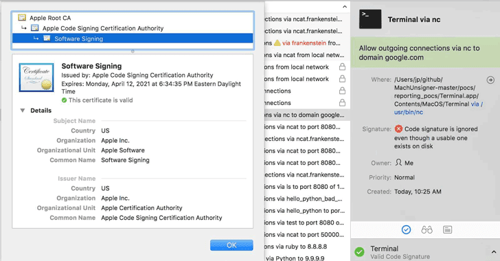 Signature Validation Bug Let Malware Bypass Several Mac Security Products