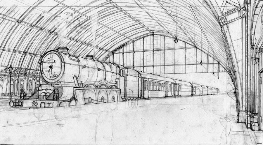 The gallery for --> Train Station Platform Drawing