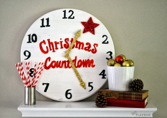 This cute Christmas Countdown Clock will keep the holiday joy alive and exciting as you countdown to christmas!