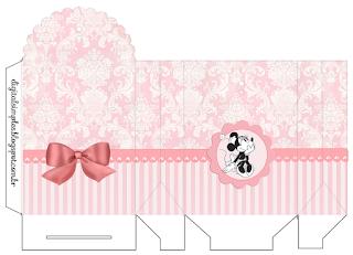 Caja para Imprimir Gratis de Minnie Vintage.