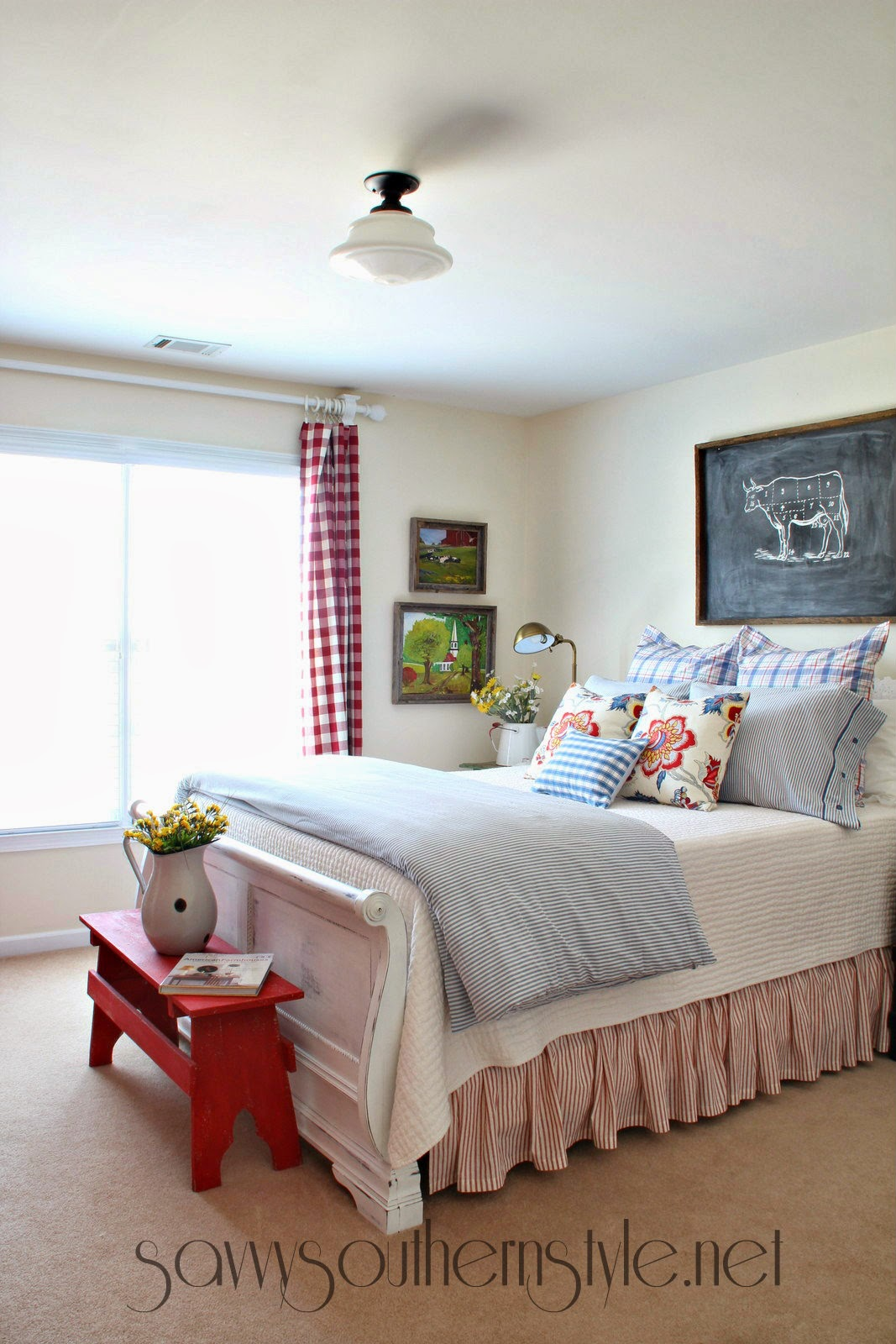 Vintage Farmhouse Bedroom Images Savvy Southern Style Farmhouse Style Guestroom Spring 2014