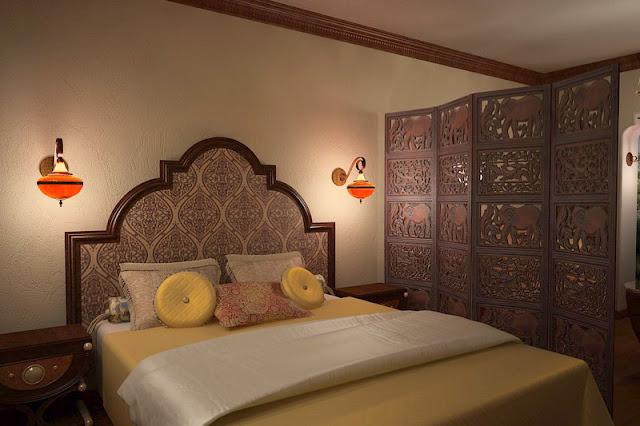 vách ngăn gỗ phòng ngủ- mẫu số 6