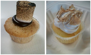 S'mores and Lemon Meringue cupcakes from Kickass Cupcakes