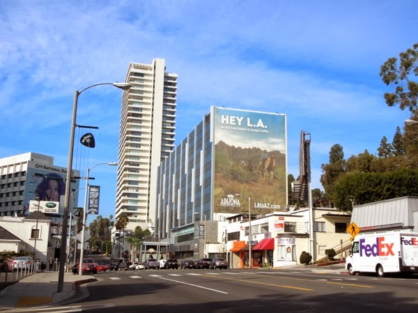 Hey LA Arizona tourism billboard Sunset Strip
