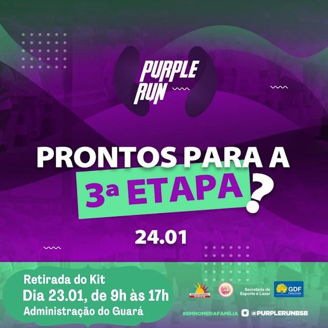 A 3ª Etapa da Purple Run continua em prol das famílias com epilepsia