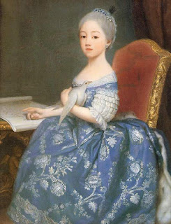 Marie Josephine as a child before her marriage to Prince Louis Stanislas, the future Louis XVIII