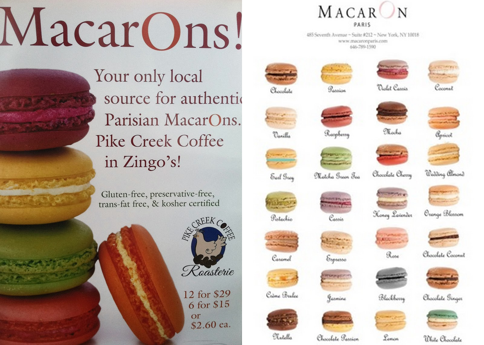Macaron Cafe Nyc Menu