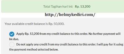 bayar domain dengan credit
