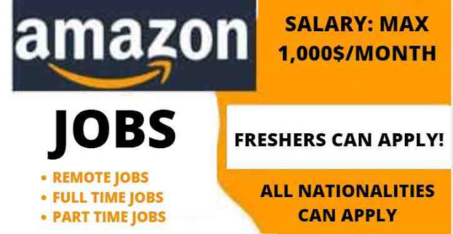 3500 وظيفة في Amazon 2021 (دوام كامل ، دوام جزئي ، وظائف افتراضية) براتب 1000 دولار شهريا