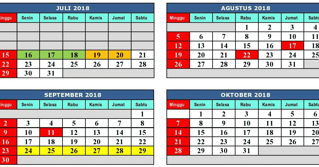 Kalender Pendidikan Provinsi Jawa Barat 2018/2019