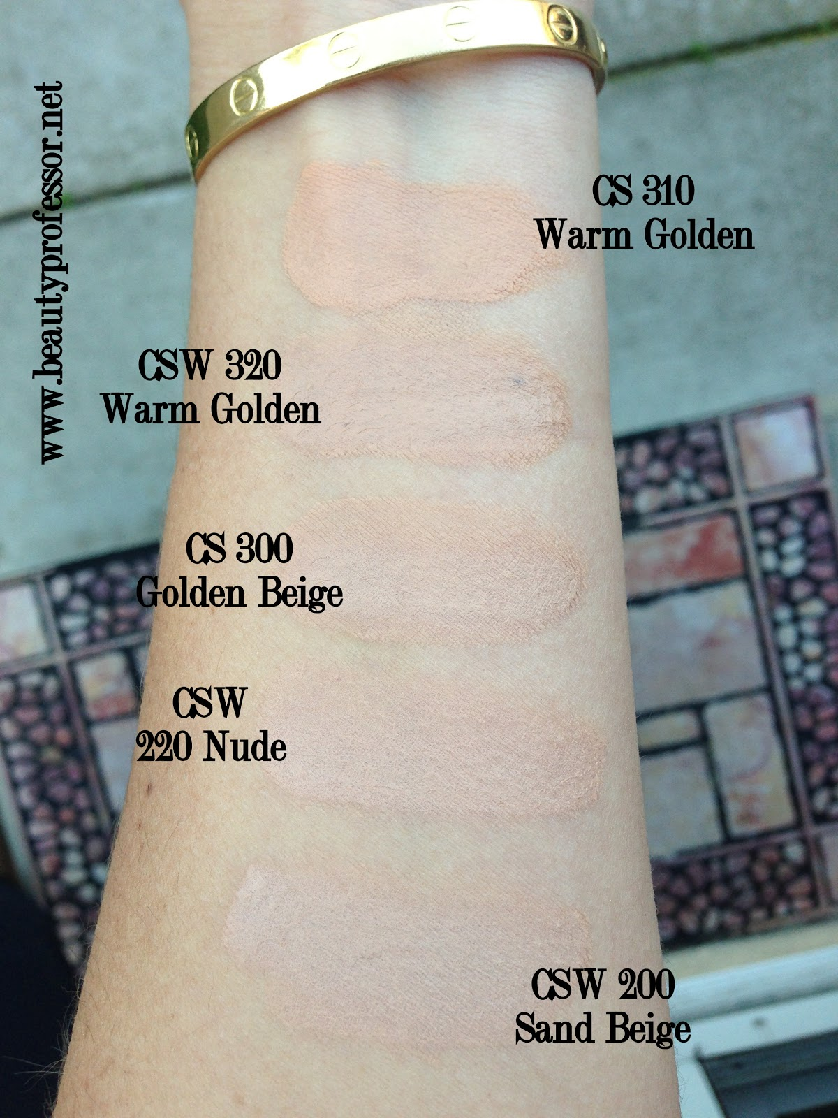 Above Swatches In Outdoor Light