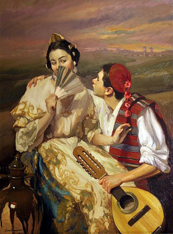 Felipe Santamans, Pintor Valenciano, Pintura Costumbrista Valenciana, Pintura Valenciana, Valencianas en pintura