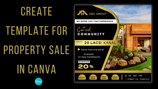 Create Template for property sale in Canva