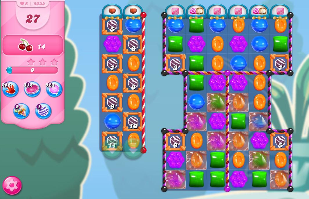 Candy Crush Saga level 8022