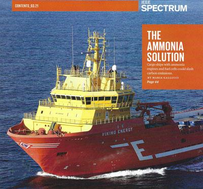 The Ammonia Solution (Source: Maria Gallucci, IEEE Spectrum, March 2021)