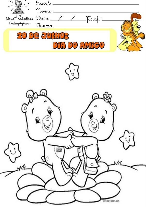 Dia Do Amigo Para Imprimir E Pintar O Mundo Das Criancas