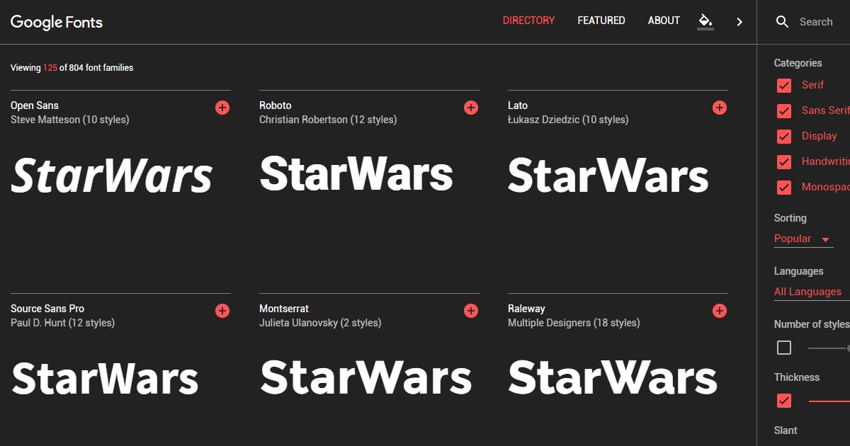 全新 Google Fonts 字型下載網站有設計師想要的搜尋