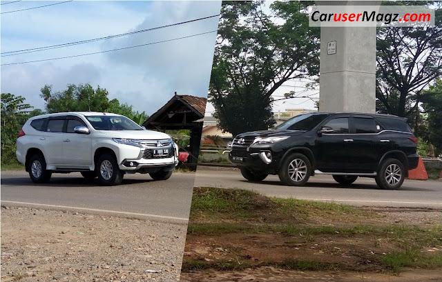 Adu Tenaga dan Keiritan New Pajero Sport vs New Fortuner