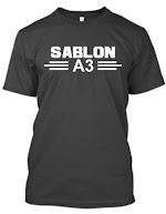 Kaos Sablon A3 (1 Warna)