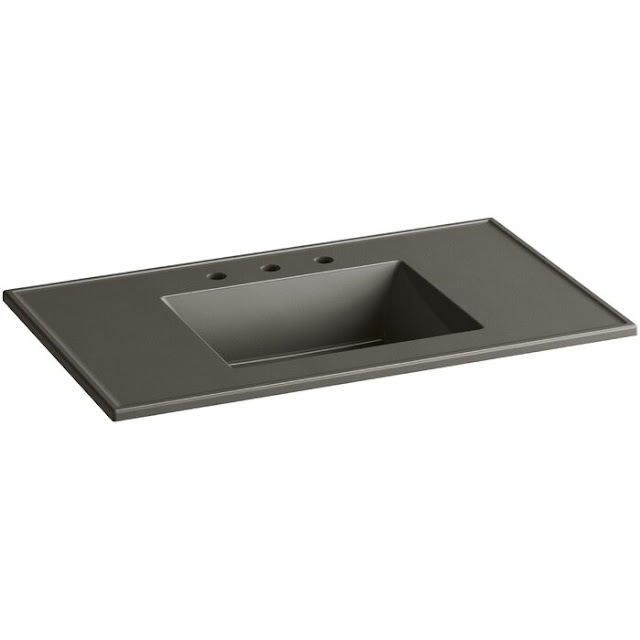 Ceramic Impressions Ceramic Rectangular Drop-In Bathroom Sink with Overflow