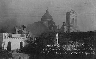 The town of Mascali was largely destroyed by the eruption of Sicily's volcanic Mount Etna in 1928