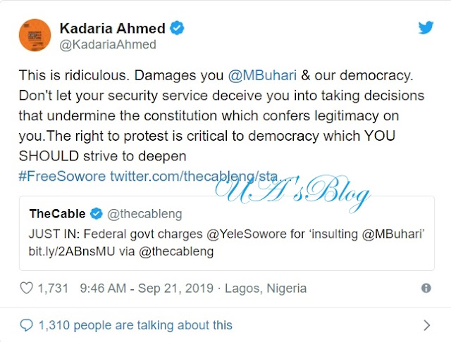 Don't Let DSS Deceive You Into Undermining The Constitution, Kadaria Tells Buhari