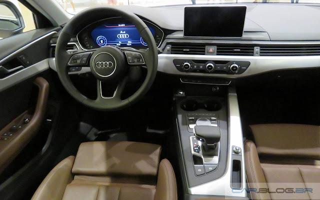 Novo Audi A4 2017 - painel