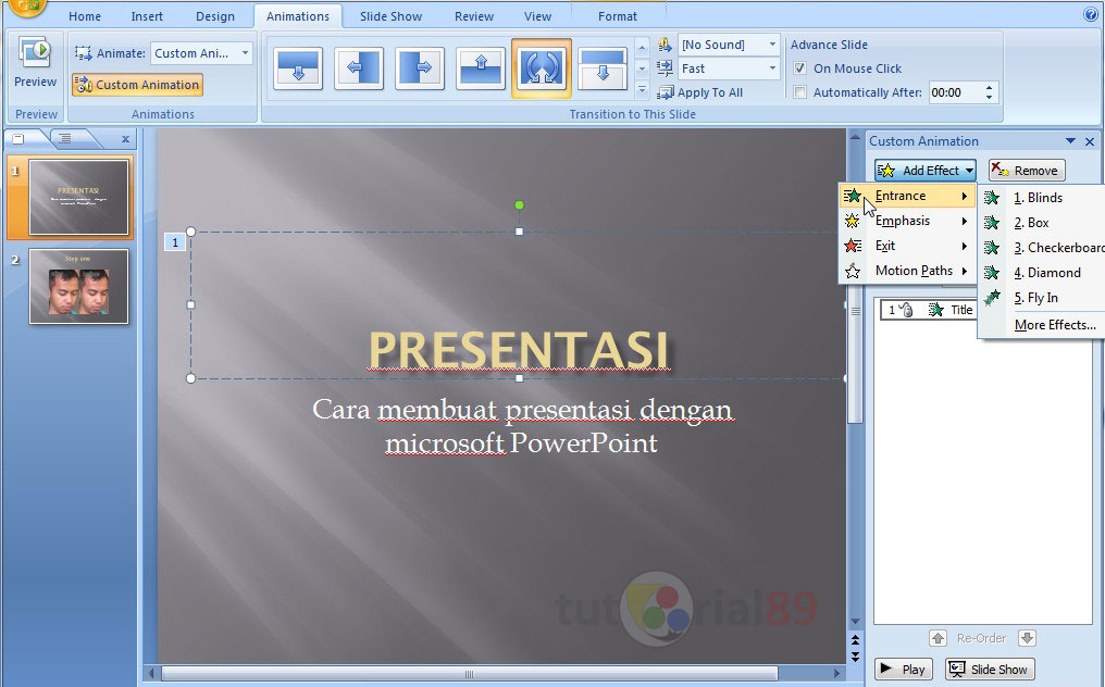 cara membuat slideshow powerpoint