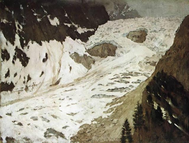 Исаак Ильич Левитан - Альпы. Снега. 1897
