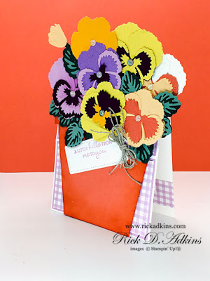 I am going to share with you a fun Pansy Patch Flower Pot Easel Card using the Pansy Patch Bundle from Stampin' Up!  Click here to learn more