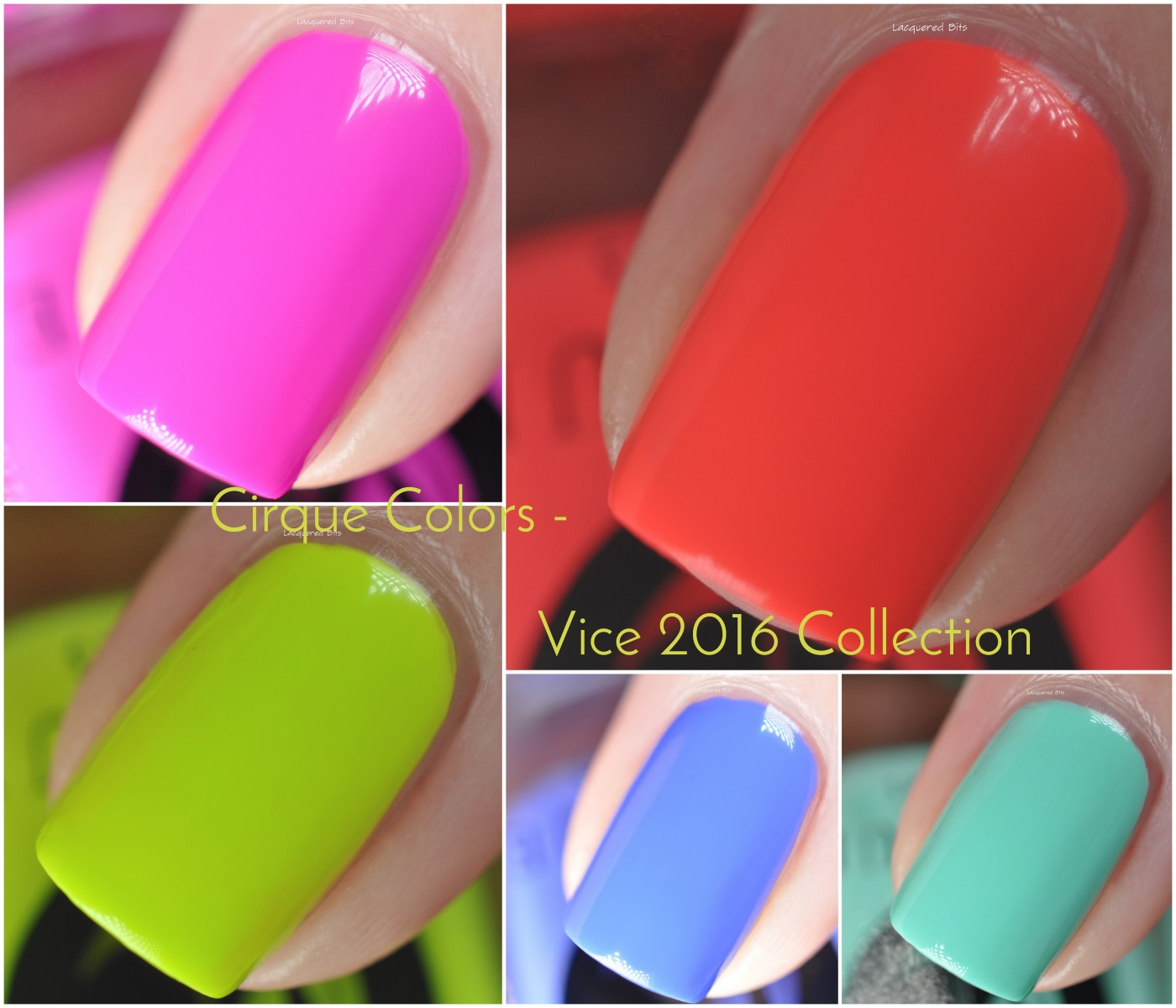 Cirque Colors Vice 2016 Collection Swatches & Review