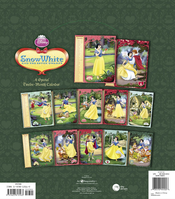 Snow White and the Seven Dwarfs  2012 Wall Calendar