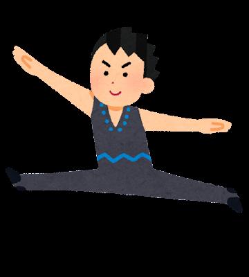 新体操のイラスト(男性)