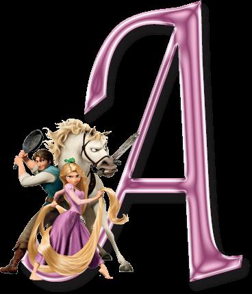 Alfabeto Rapunzel.