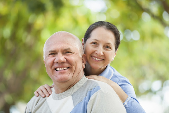 Healthy, happy older couple