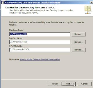 Penentuan lokasi penyimpanan database