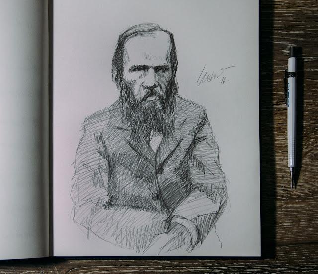 crime e castigo Fiodor Dostoiévski draw desenho retrato portrait susano correia