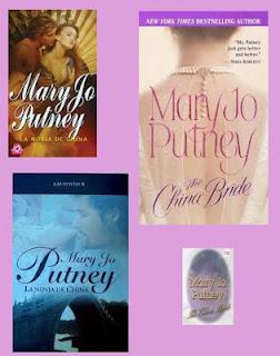 portadas de la novela romántica histórica La novia de China, de Mary Jo Putney