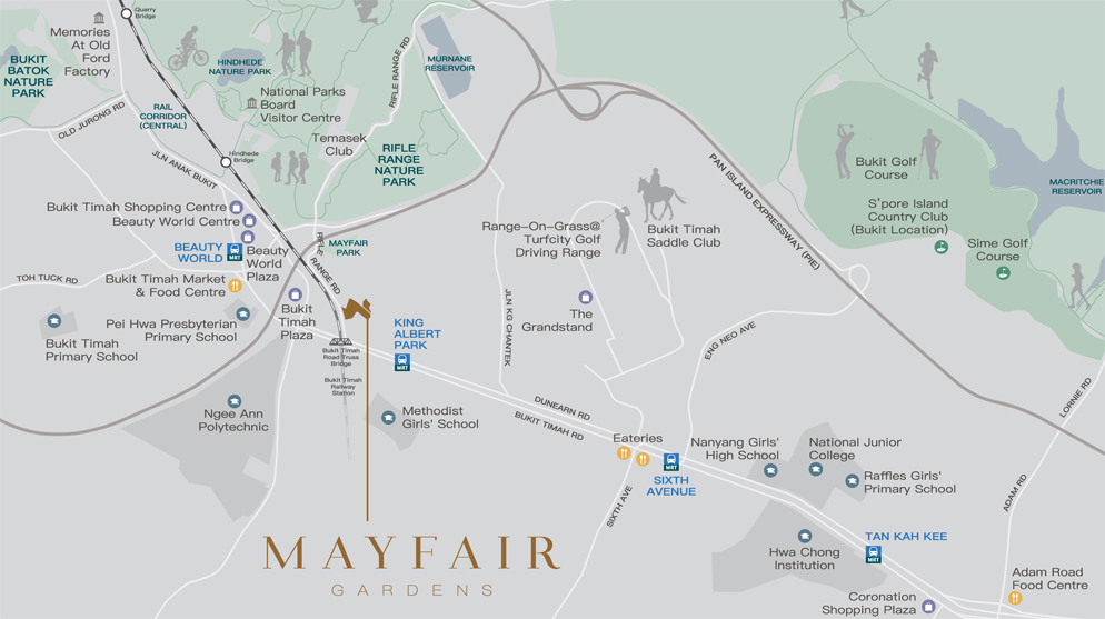 Mayfair Gardens Location Map