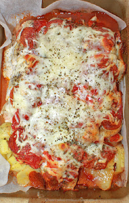 Chicken and Potatoes Pizza Style Casserole
