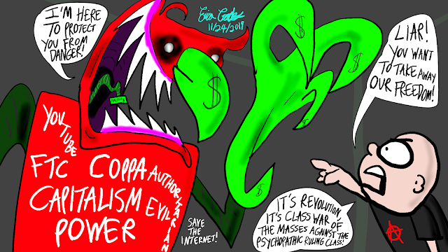 YouTube COPPA FTC Monster vs Anarchist Kid ( Erica Crooks Comics 2019 )